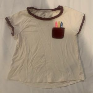 💝 Toddler pocket short sleeve t-shirt